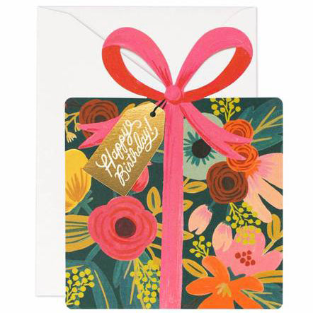 Birthday Present Greeting Card by Rifle Paper Co