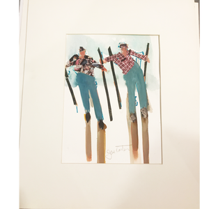 Skiers #5 by Local Artist Jane Carter
