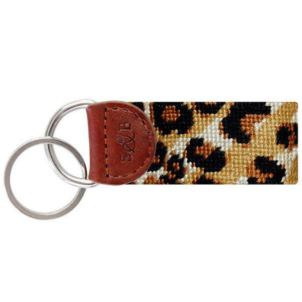 Leopard Print Needlepoint Key Fob - Smathers & Branson - Chestnut Lane Antiques & Interiors