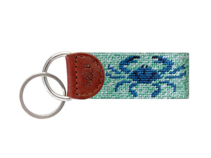 Smathers & Branson Needlepoint Key Fob - Blue Crab