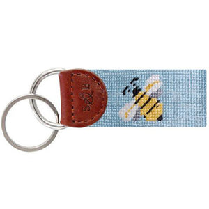 Bee Needlepoint Key Fob