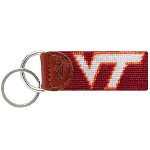Virginia Tech Needlepoint Key Fob - Smathers & Branson - Chestnut Lane Antiques & Interiors