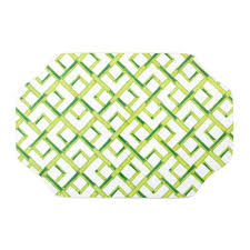 Bamboo White Chippendale Lacquer Placemat