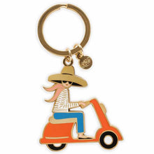 Load image into Gallery viewer, Scooter Enamel Keychain