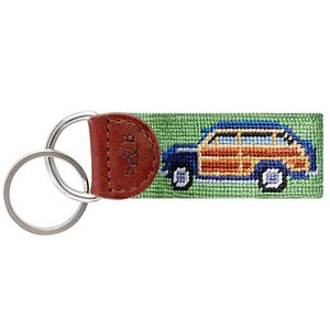 Woody Needlepoint Key Fob