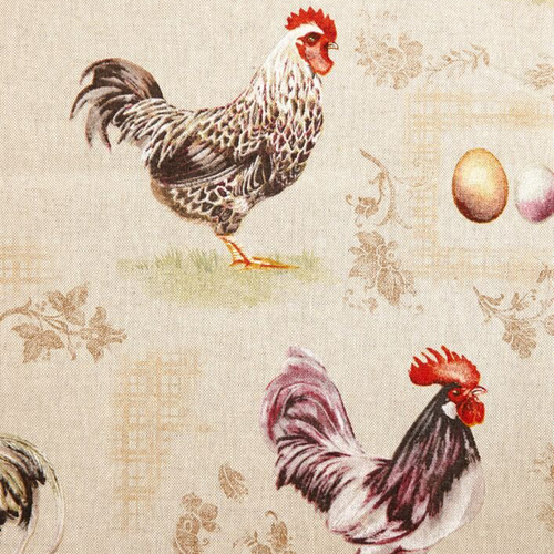 French Hens Fabric - Chestnut Lane Antiques & Interiors - 1