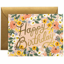 Load image into Gallery viewer, Rosé Birthday Greeting Card