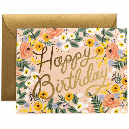 Rosé Birthday Greeting Card