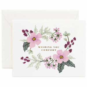 Wishing You Comfort Bouquet Greeting Card