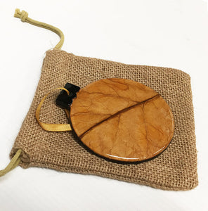 Hand-Crafted Tobacco Leaf Christmas Ornament - Chestnut Lane Antiques & Interiors - 2