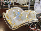 Fluted Feathered Yellow Art Glass Bowl - Chestnut Lane Antiques & Interiors - 3