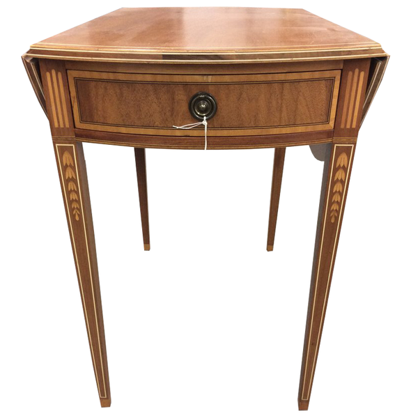 Mahogany Pembroke Table With Inlay - Chestnut Lane Antiques & Interiors - 1