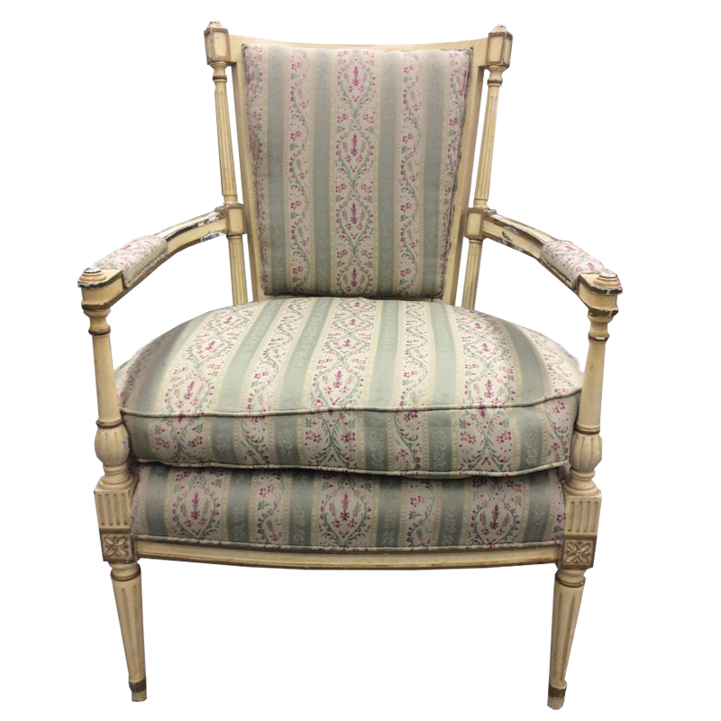 Newly Upholstered Vintage French Style Chair - Chestnut Lane Antiques & Interiors - 1