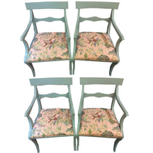 Load image into Gallery viewer, Set of 4 Newly Upholstered Duck Egg Blue Chairs - Chestnut Lane Antiques & Interiors - 1