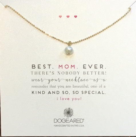 Best Mom Ever Potato Pearl with Sparkle Ball chain - Chestnut Lane Antiques & Interiors