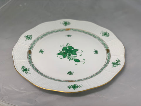 Herend Chinese Bouquet Green Round Platter