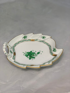 Herend Chinese Bouquet Green Leaf Plate
