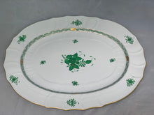 Load image into Gallery viewer, Herend Chinese Bouquet Green Extra Large Platter