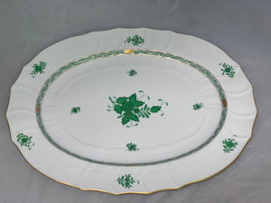 Herend Chinese Bouquet Green Extra Large Platter
