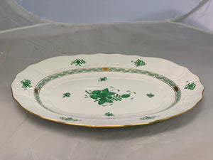Herend Chinese Bouquet Green Large Platter