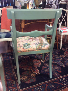 Set of 4 Newly Upholstered Duck Egg Blue Chairs - Chestnut Lane Antiques & Interiors - 2