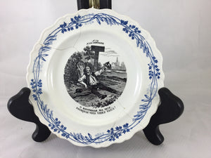 Blue and White French Transfer ware Plate - Chestnut Lane Antiques & Interiors - 1