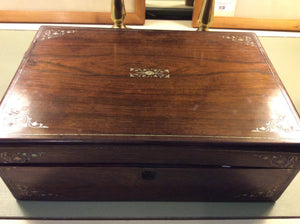 Antique Rosewood Box - Chestnut Lane Antiques & Interiors