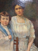 Load image into Gallery viewer, Antique Portrait of Lady and Boy - Chestnut Lane Antiques & Interiors - 3
