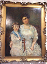 Load image into Gallery viewer, Antique Portrait of Lady and Boy - Chestnut Lane Antiques & Interiors - 2