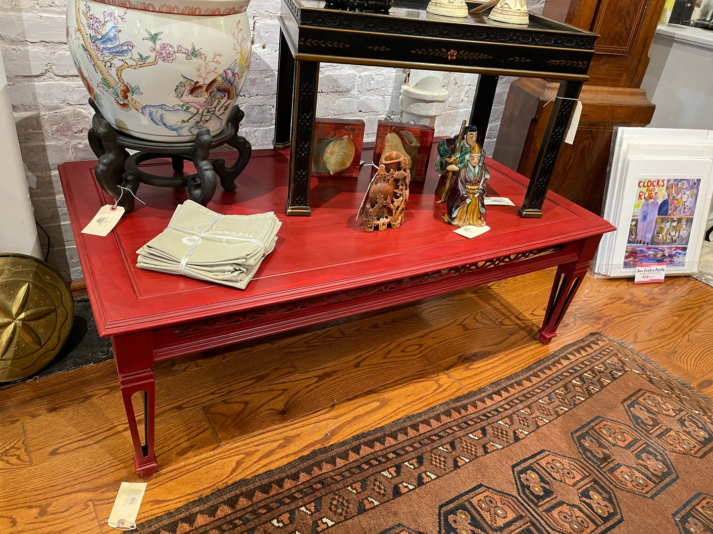 Annie Sloan Chalk Paint Red Coffee Table