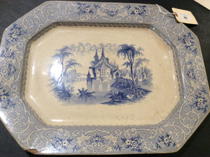 Blue & White Transferware Platter - Chestnut Lane Antiques & Interiors - 2