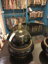 Load image into Gallery viewer, Black Glass Lamps (Pair) - Chestnut Lane Antiques & Interiors - 4