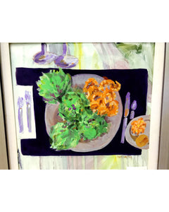 "Jane Carter ""Artichokes and Shrimp"" Painting"