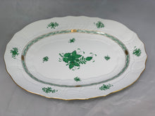 Load image into Gallery viewer, Herend Chinese Bouquet Green Large Platter