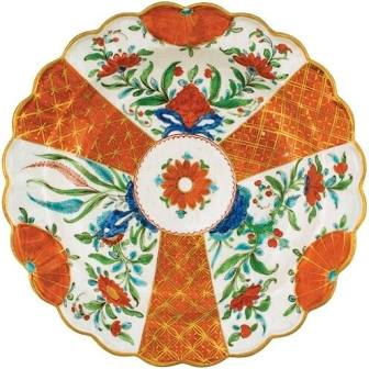 Orange Floral Plate Placemat Die Cut-Single