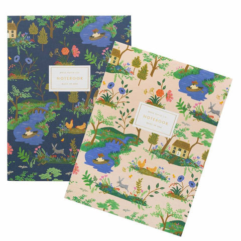 Pair of 2 Garden Toile Notebooks