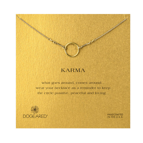 Original Karma Gold Dipped Dogeared Necklace - Chestnut Lane Antiques & Interiors