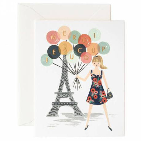 Merci Beaucoup Greeting Card by Rifle Paper Co