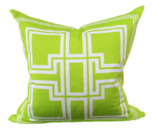 Load image into Gallery viewer, Greek Key Lime Green Pillow - Chestnut Lane Antiques & Interiors - 2