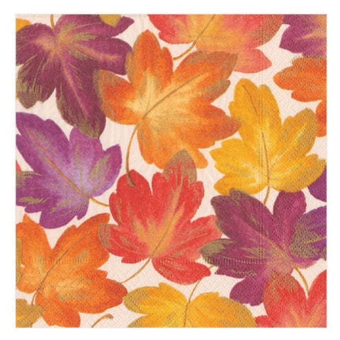 Fallen Leaves Paper Cocktail Napkins - 20 Per Package