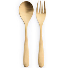 Load image into Gallery viewer, Flatware Matte Gold Salad Tong
