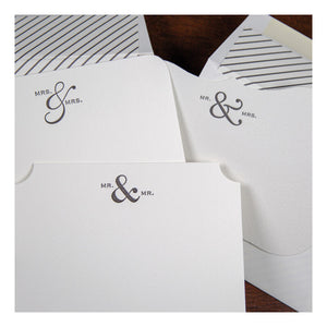 Happy Couple Letterpress Notes - Mrs & Mrs Stationery - Chestnut Lane Antiques & Interiors - 2