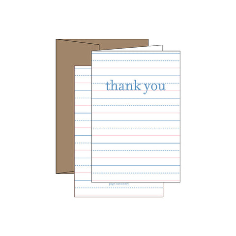 Letterpress Greeting Cards - Thank you - Chestnut Lane Antiques & Interiors - 1