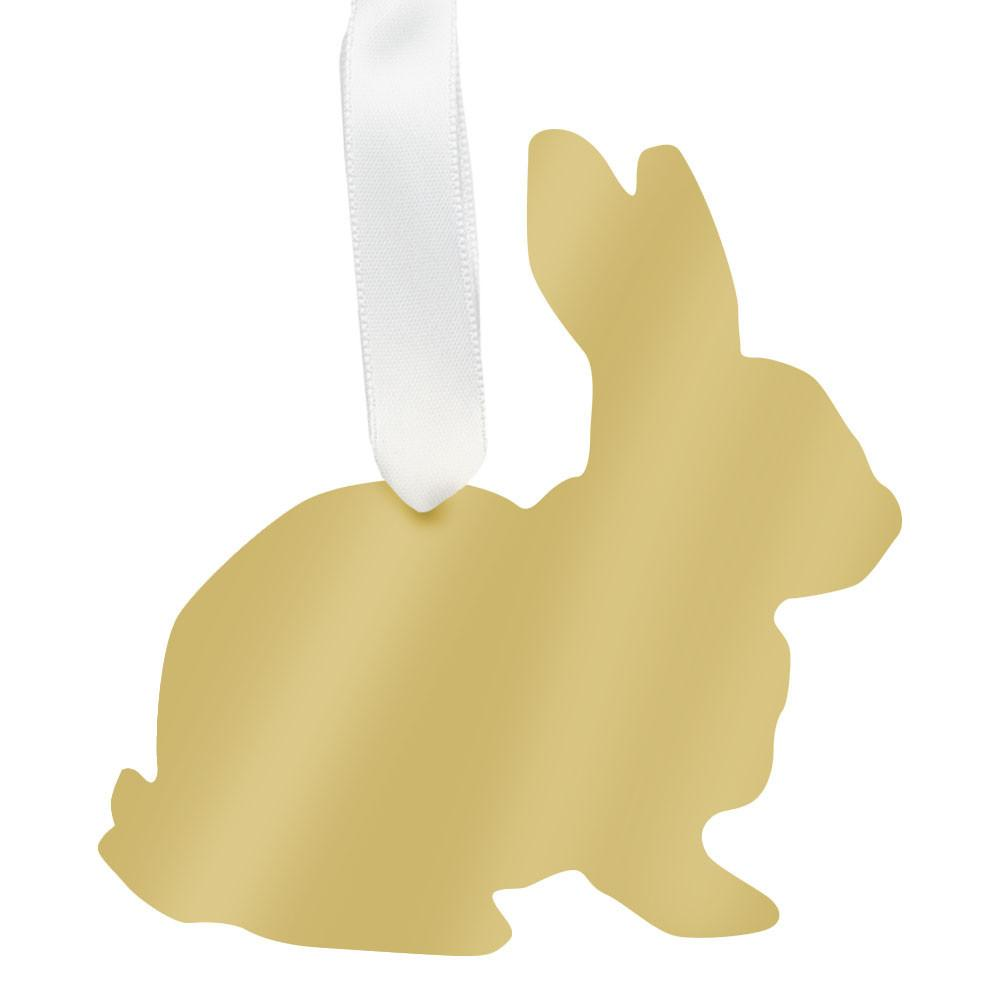 Moon & Lola Mirrored Gold Ornament - Rabbit