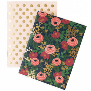 Rosa Pair of Two Pocket Notebooks by Rifle Paper Co