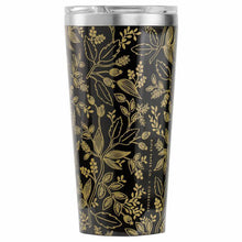 Load image into Gallery viewer, Gloss Black 'Queen Anne' 16 oz. Tumbler