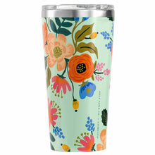 Load image into Gallery viewer, Gloss Mint 'Lively Floral' 16 oz. Tumbler