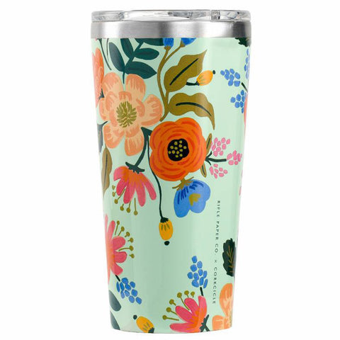 Gloss Mint 'Lively Floral' 16 oz. Tumbler