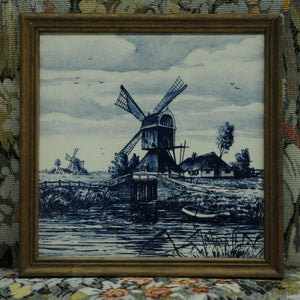 French Windmill Framed Tile - Chestnut Lane Antiques & Interiors - 2