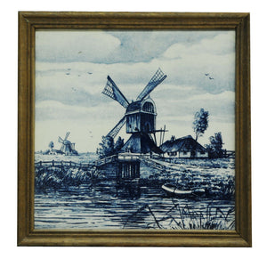 French Windmill Framed Tile - Chestnut Lane Antiques & Interiors - 1